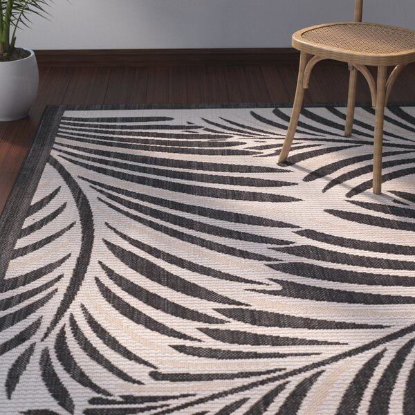 Bridgeville Tropic Palm Silhouette Area Rug by Bay Isle Home