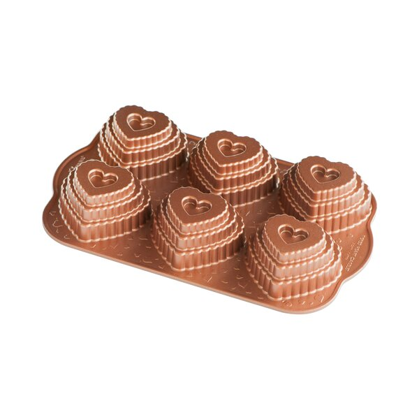 Non-Stick Novelty Tiered Hearts Cakelet Pan by Nordic Ware