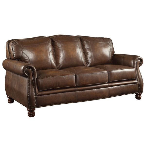 Linglestown Leather Sofa by Darby Home Co
