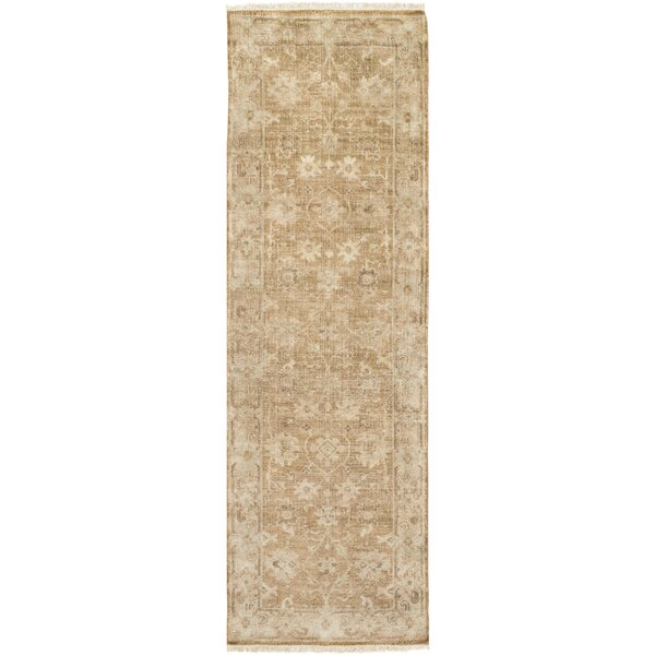 Angela Hand-Knotted Brown Area Rug by One Allium Way