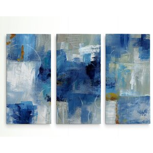 'Blue Morning' Acrylic Painting Print Multi-Piece Image on Gallery Wrapped Canvas by George Oliver