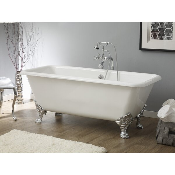 Spencer 66.88 x 31.88 Soaking Bathtub With Continuous Rolled Rim by Cheviot Products
