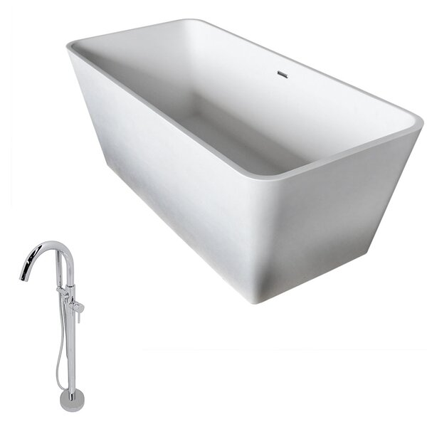 Cenere 58.25 x 26.4 Soaking Bathtub by ANZZI