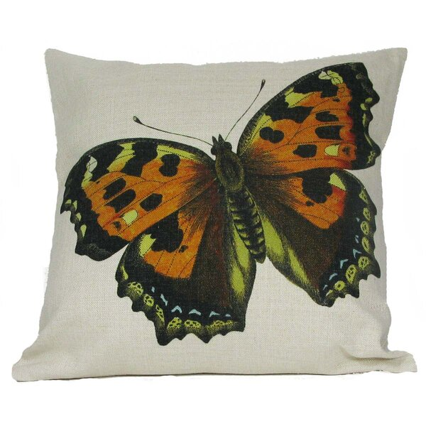 Butterfly Throw Pillow by Golden Hill Studio