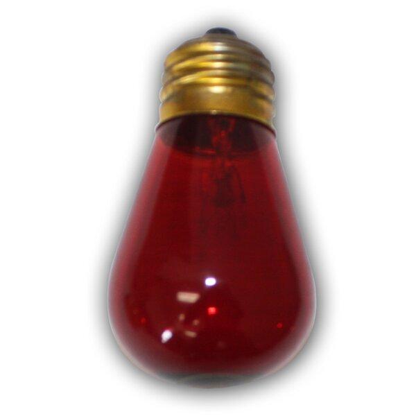 11W Red E26 Incandescent Vintage Filament Light Bulb by Aspen Brands