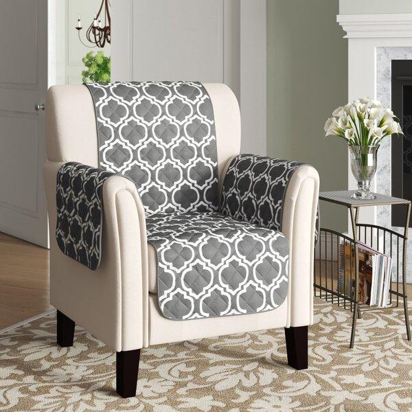 Home & Garden Printed Reversible T-Cushion Armchair Slipcover