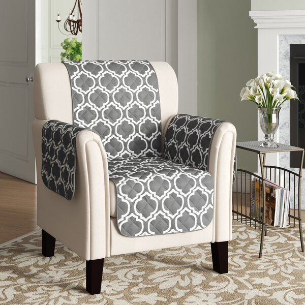 Printed Reversible T-Cushion Armchair Slipcover By Winston Porter