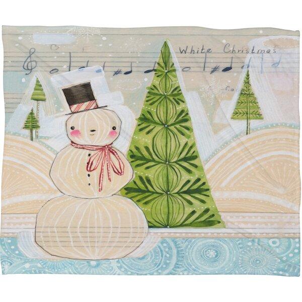 Donmoyer Let It Snow Christmas Fleece Polyester Throw Blanket by Brayden Studio