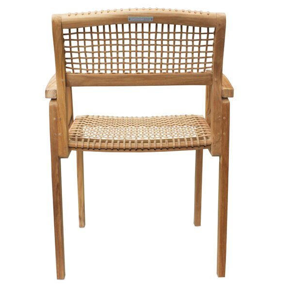 Alcala Solid Wood Dining Chair by Bungalow Rose
