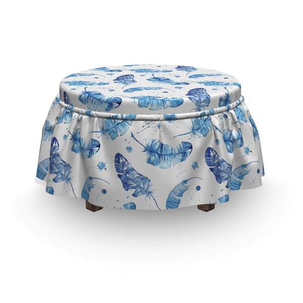 Quill Motifs Ottoman Slipcover (Set Of 2) By East Urban Home