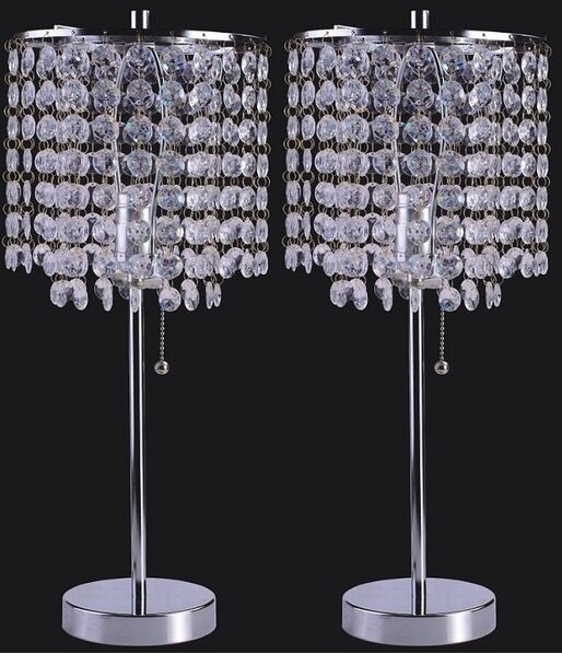 Georgina Crystal Inspired 19 Table Lamp (Set of 2) by House of Hampton