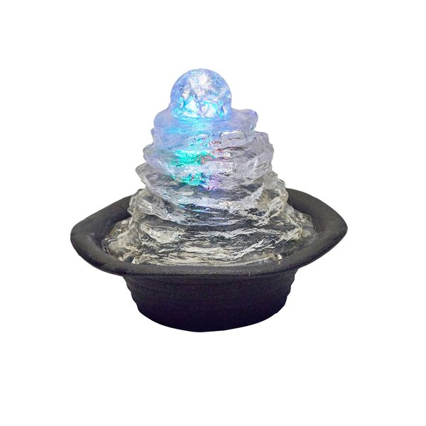 Resin Rock Climb Ice Table Fountain with Light by ORE Furniture