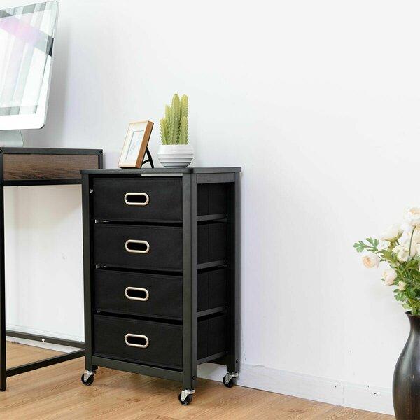 Hoyt 4-Drawer Mobile Vertical Filing Cabinet