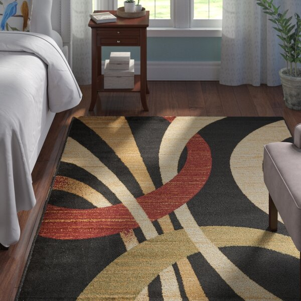 Beachmount Black Area Rug by Andover Mills