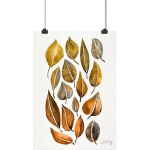 'Rusy Fall Leaves' Print by East Urban Home