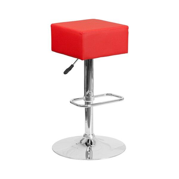 Spade Adjustable Height Swivel Bar Stool by Orren Ellis