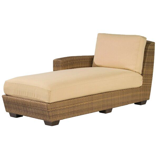 Saddleback Left Hand Chaise Lounge Sectional Piece by Woodard