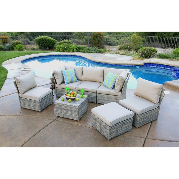 Gil 7 Piece Deep Seating Group with Cushion by Latitude Run