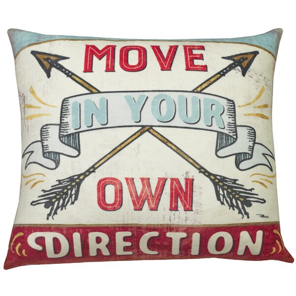 Urban Loft Move Direction Throw Pillow by Westex