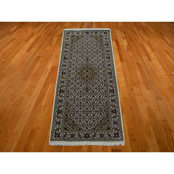 One-of-a-Kind Raiden Hand-Knotted Wool Ivory Area Rug by Astoria Grand