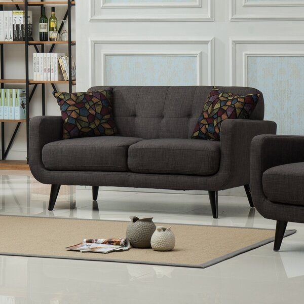 Top Recommend Modibella Loveseat by Roundhill Furniture by Roundhill Furniture