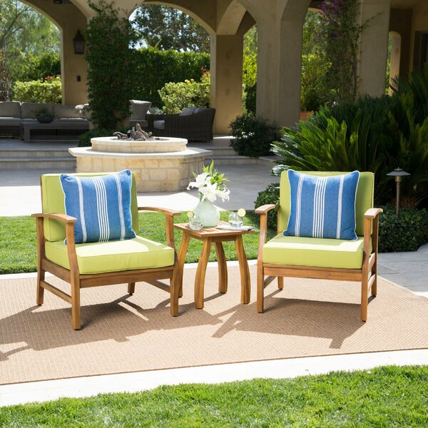 Antonia 3 Piece Conversation Set with Cushions by Mistana