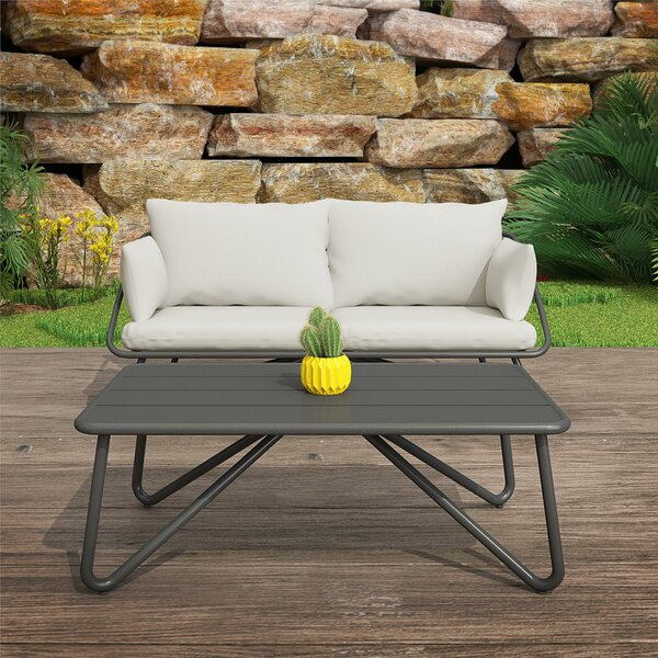 Teddi 2 Piece Sofa Seating Group with Cushions by Novogratz