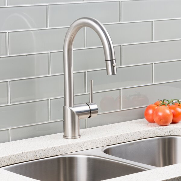 Deck Pull Down Single Handle Kitchen Faucet by Hahn