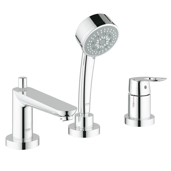 BauLoop Deck Mount Roman Tub Filler Shower Faucet with Loop Handle by Grohe