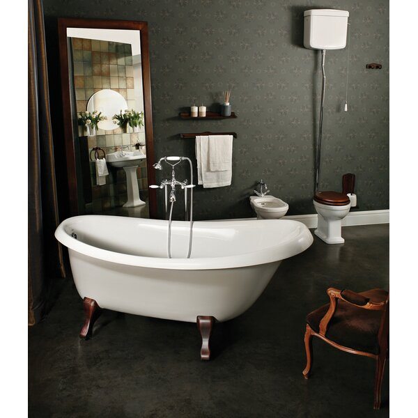 Nostalgia 67 x 32.75 Soaking Bathtub by Aquatica