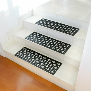 Stars Recycled Rubber Step Stair Tread Mat Set (Set Of 6)