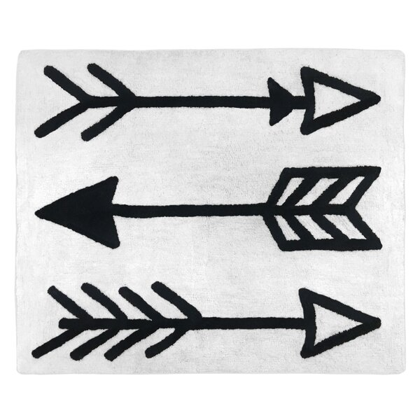 Floor Cotton Black/White Area Rug by Sweet Jojo Designs