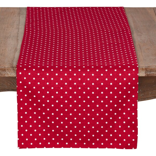 Milburn Polka Dot Table Runner by Latitude Run