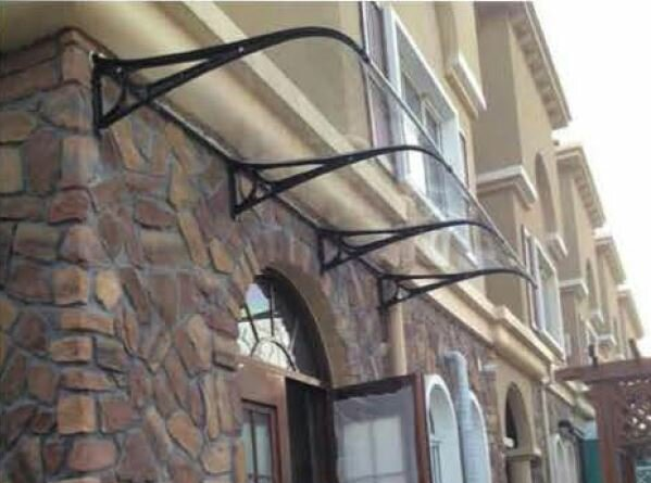 5 ft. W x 3 ft. D Door Awning by Abolos