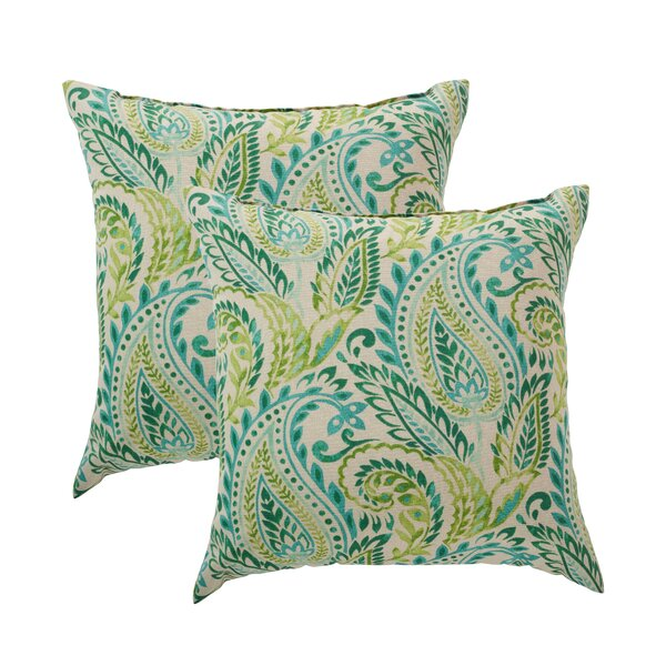 Hilson Outdoor Square Throw Pillow (Set of 2)