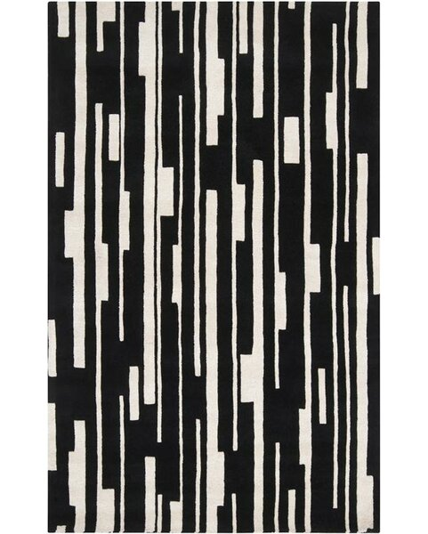 Modern Classics Winter White/Jet Black Rug by Candice Olson Rugs