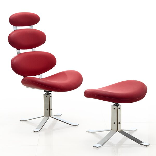Hentges Swivel Lounge Chair and Ottoman by Orren Ellis