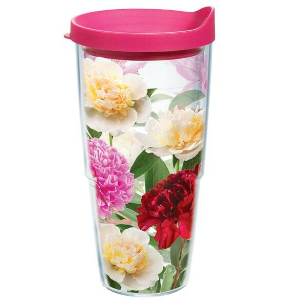 Garden Party Peonies From Heaven Plastic Travel Tumbler by Tervis Tumbler