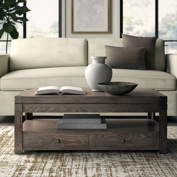 Quedgeley Lift Top Coffee Table by Three Posts