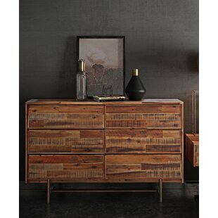 Clover 6 Drawer Double Dresser