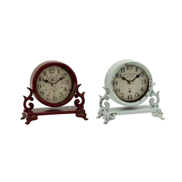Table Clock Set (Set of 2) by Cole & Grey