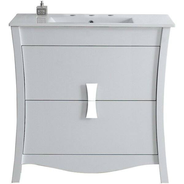 Cataldo Modern Glazed Floor Mount 36 Single Bathroom Vanity Set by Royal Purple Bath Kitchen