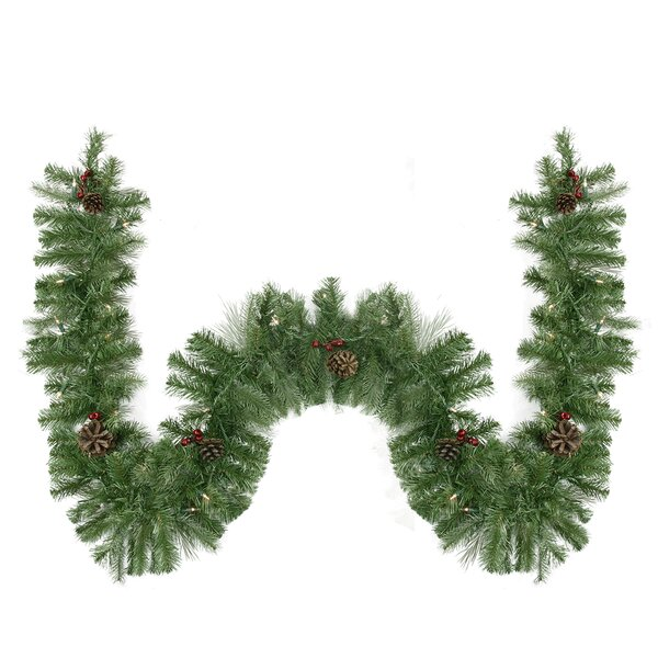 Noble Fir, Berries and Pine Cones Artificial Christmas Garland by Northlight Seasonal