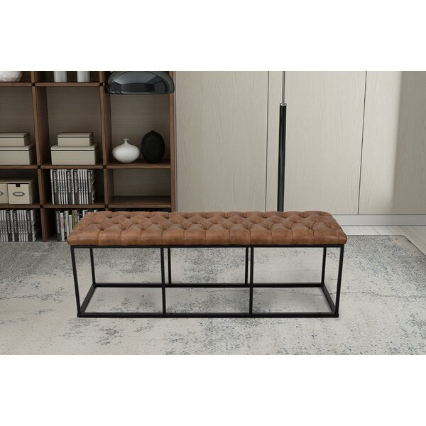 Thrapst Faux Leather Bench by Greyleigh
