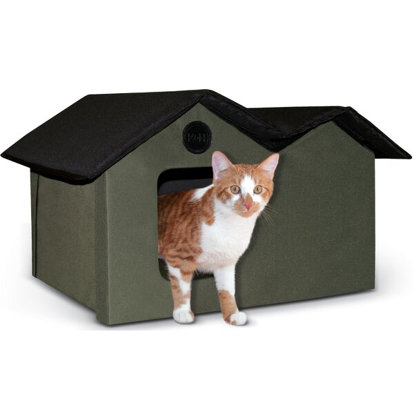 Outdoor Kitty House By K H Manufacturing.