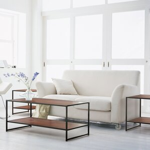 Metal Coffee Table Sets Youll Love Wayfair - Coffe table set
