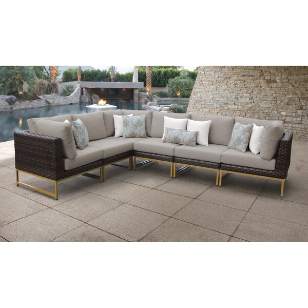 Barcelona Patio Sofa with Cushions by TK Classics