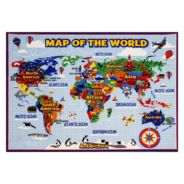 World Map Area Rug by Smithsonian Rugs