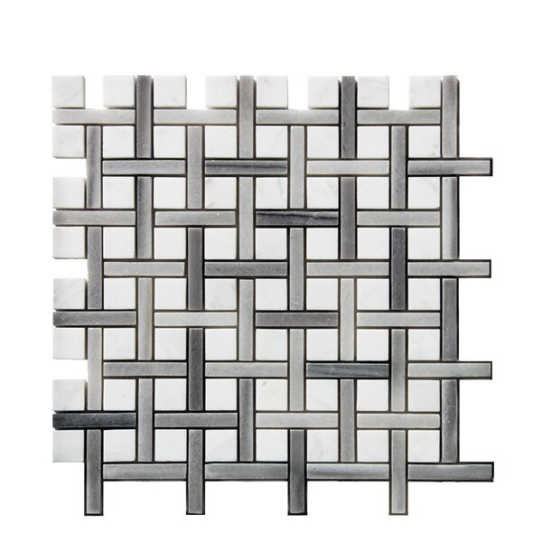 Legion Furniture 0 38 Quot X 1 38 Quot Stone Mosaic Tile In White