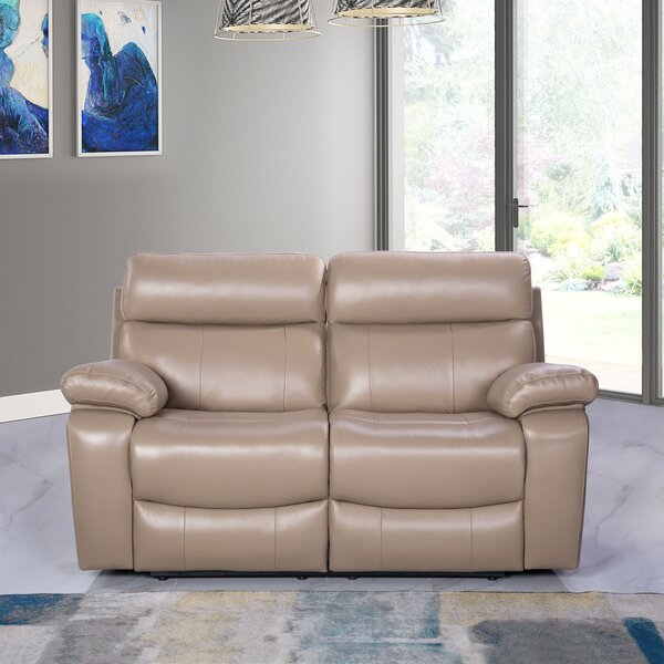 Nice Classy Mellor Leather Reclining Loveseat by Red Barrel Studio by Red Barrel Studio